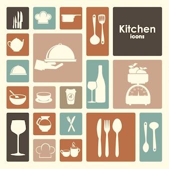 Ícones de restaurante