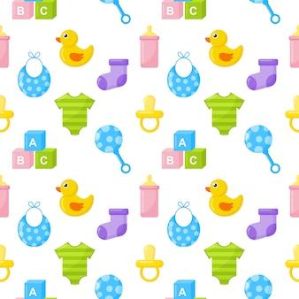 Ícones de roupas e brinquedos de bebê