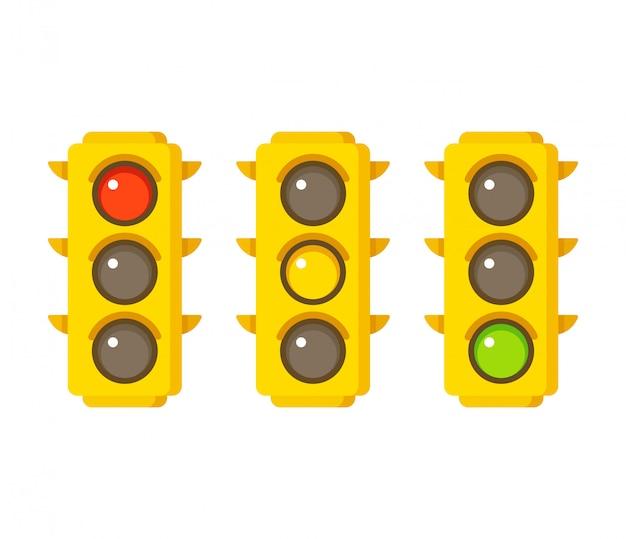 Ícones de semáforo