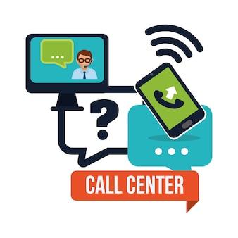 Ícones de serviço de call center