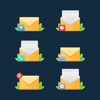 Ícones de serviço de correio