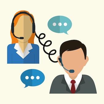 Ícones de serviço de suporte ao cliente