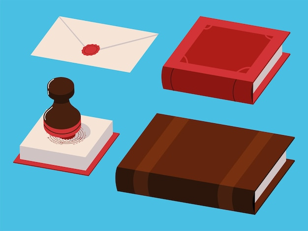 Ícones de serviço notarial