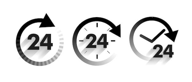 Ícones de serviço por dia definidos em estilo de seta