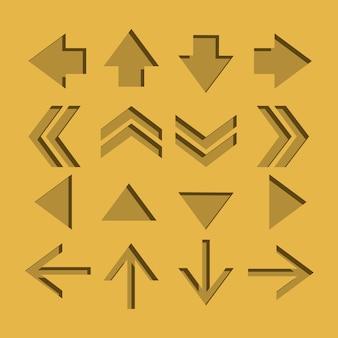 Ícones de seta