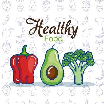 Ícones de setas de frutas e vegetais