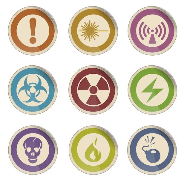 Ícones de sinais de perigo