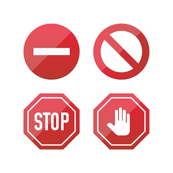 Ícones de sinal de stop