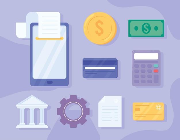 Ícones de soluções de pagamento