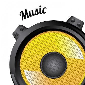 Ícones de som sobre branco