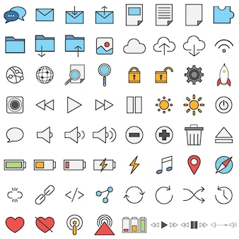 Ícones de tecnologia
