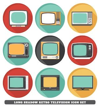 Ícones de televisão retro
