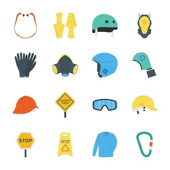 Ícones de trabalho de segurança