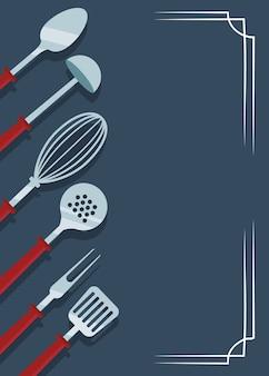 Ícones de utensílios de cozinha
