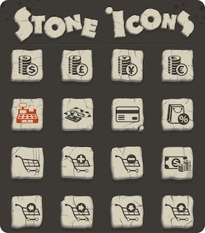 Ícones de vetor de comércio eletrônico para web e design de interface de usuário