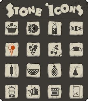 Ícones de vetor de comida e cozinha para web e design de interface de usuário