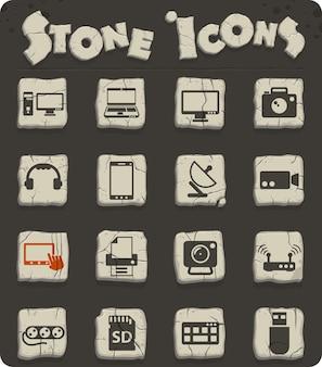Ícones de vetor de dispositivos para design de interface de usuário e web