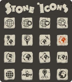 Ícones de vetor de globos para design de interface de usuário e web