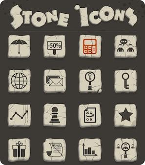 Ícones de vetor de marketing para web e design de interface de usuário