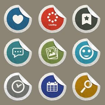 Ícones de vetor de mídia social para sites e interface do usuário