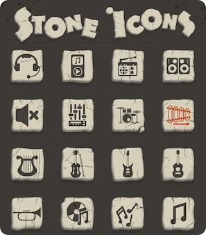 Ícones de vetor de música para web e design de interface de usuário