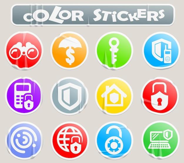 Ícones de vetor de segurança e proteção para design de interface de usuário