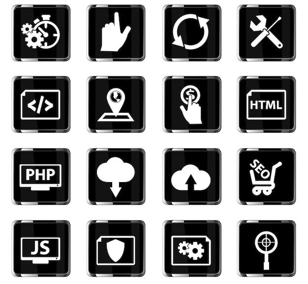Ícones de vetor de seo para design de interface de usuário