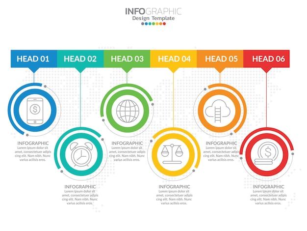 Ícones de vetor e marketing cronograma infográfico design