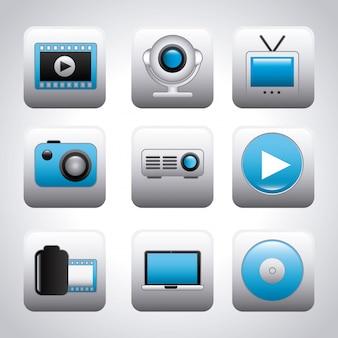 Ícones de vídeo