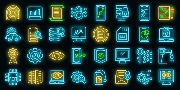 Ícones de visão geral técnica definir vetor de estrutura de tópicos. especificação da câmera. memória dupla