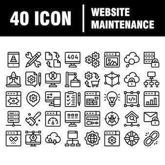 Ícones de web e desenvolvimento de linha fina definido para o site e site e aplicativos móveis. pixel perfeito. acidente vascular encefálico. pacote de pictograma linear simples.