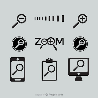 Ícones de zoom
