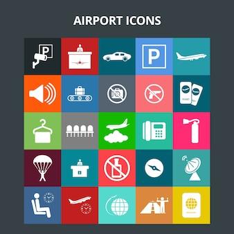 Ícones do aeroporto