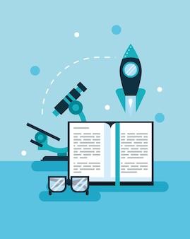 Ícones do conjunto de livros didáticos e educacionais