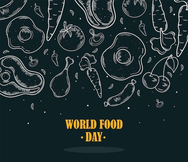 Ícones do dia mundial da comida