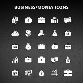 Ícones do dinheiro do negócio