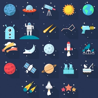 ícones do espaço