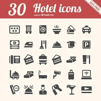 Ícones do hotel embalar