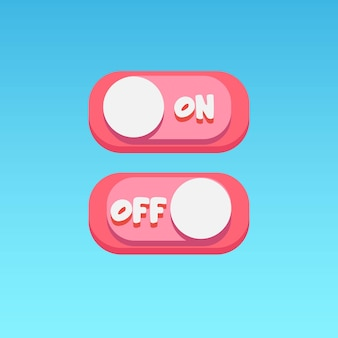 Ícones do jogo definir interruptor de alternância estilo simples design vector ui