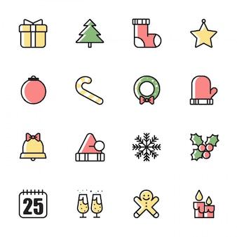 Ícones do natal set