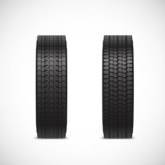 Ícones do pneu do vetor.