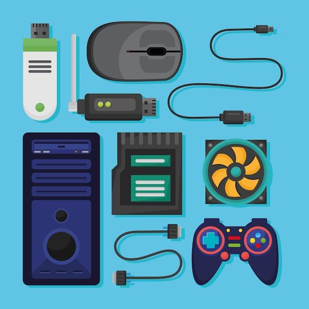 Ícones do sistema de computador