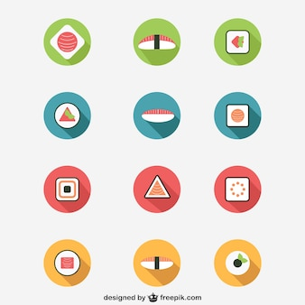 Ícones do sushi