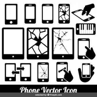 Ícones do vetor do telefone