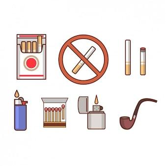 Ícones fumadores