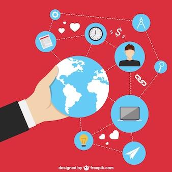 Ícones globais de mídia social
