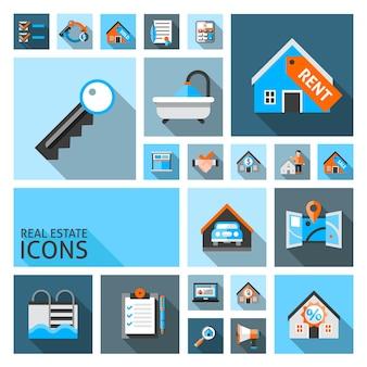 Ícones imobiliários