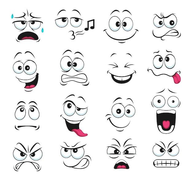 Ícones isolados de expressão facial