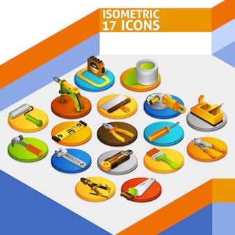 Ícones isométricos de ferramentas