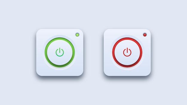 Ícones ligados e desligados